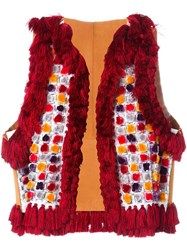 Dsquared2 Fringed Pom Pom Gilet