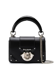 Balmain Mini Box Crossbody Bag Black