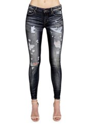 Cult Of Individuality Zen Mid Rise Skinny Fit Distressed Jeans Grey