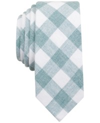 Penguin Men's Park Checked Skinny Tie Mint