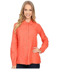 Exofficio Lightscape Long Sleeve Shirt Hot Coral Women's Long Sleeve Button Up Red