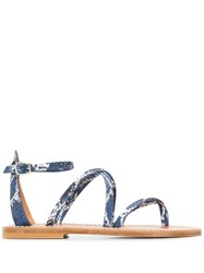 K. Jacques Epicure Flat Sandals Blue