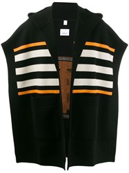 Burberry Monogram Intarsia Knit Cape Black