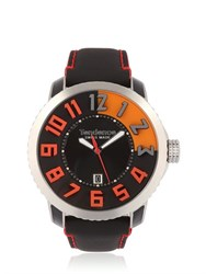 Tendence 3H Steel Black And Orange Watch