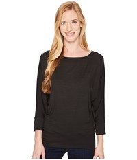 Royal Robbins Noe Dolman Top Jet Black Women's Long Sleeve Pullover
