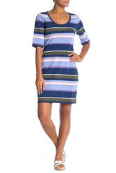 Tommy Bahama Shore Stripe Scoop Neck Dress Kingdom Blue