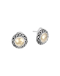 John Hardy Palu 18K Gold And Sterling Silver Post Earrings