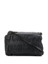 Numero 10 Ruched Shoulder Bag Black