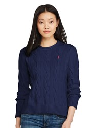 Polo Ralph Lauren Boxy Cable Knit Jumper Bright Navy
