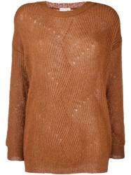L'autre Chose Round Neck Pullover Brown