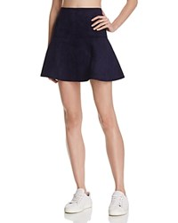 Bb Dakota Jack By Faux Suede Mini Skirt Night Sky Navy