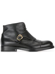 Raparo Buckled Detailing Boots Black