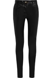Givenchy Skinny Pants In Black Stretch Leather