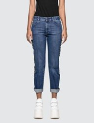 Stella Mccartney Straight Jeans With Side Strap