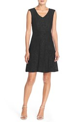 Women's Ellen Tracy Lace Fit And Flare Dress