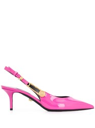 Versace Pointed Safety Pin Kitten Heels 60