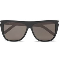 Saint Laurent D Frame Acetate Sunglasses Black