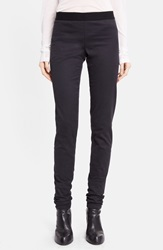 Ann Demeulemeester Stretch Cotton And Wool Leggings Black