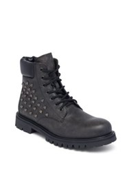 Valentino Studded Combat Boots Black