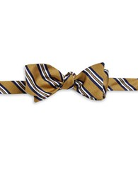 Brooks Brothers Striped Silk Bow Tie Yellow