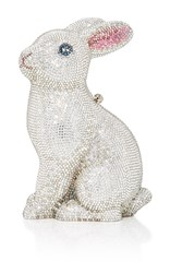 Judith Leiber Couture Ava Bunny Clutch White