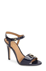 Calvin Klein 'Madigan' Ankle Strap Sandal Women Deep Navy Patent Leather