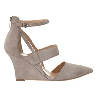 Mint Velvet Cut Out Wedge Heeled Court Shoes Mink