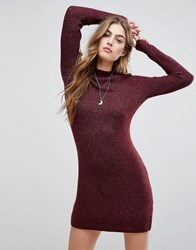 Abercrombie And Fitch Sweat Dress Burgundy Purple