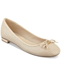 Tommy Hilfiger Mirella Perforated Ballet Flats Women's Shoes Natural