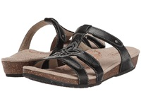 Aetrex Jeannette Adjustable Three Strap Slide Black Women's Sandals
