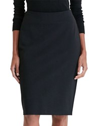 Lauren Ralph Lauren Petite Ponte Pencil Skirt Black