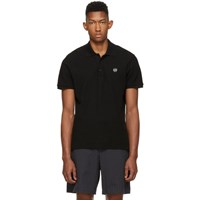 Rag And Bone Black Pique Polo Blk 001