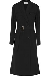 Christophe Lemaire Lemaire Wool Crepe Trench Coat Black