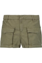 Rag And Bone Cargo Cotton Shorts Army Green