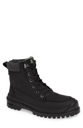 Kamik Griffon2 Snow Boot With Faux Shearling Black Black Leather