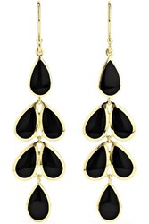 Ippolita Polished Rock Candy 18 Karat Gold Onyx Earrings One Size