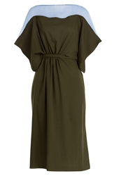 Vionnet Wool Dress With Chiffon