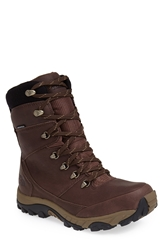 The North Face 'Chilkat Ii' Waterproof Leather Snow Boot Demitasse Brown Cub Brown