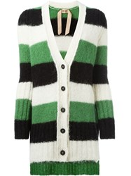 N 21 Nao21 Striped V Neck Cardigan Multicolour