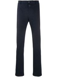 Closed Mid Rise Straight Leg Chinos Blue