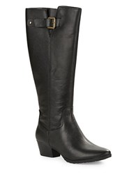 Bandolino Tadao Leather Knee High Boots Black