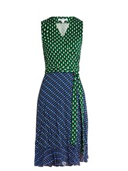 Diane Von Furstenberg Bethanie Dress Blue Multi