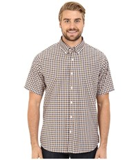 Mountain Khakis Spalding Gingham Short Sleeve Shirt Midnight Blue Cantaloupe Men's Clothing Brown