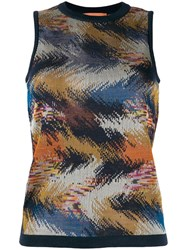 Missoni Sleeveless Knitted Top Blue