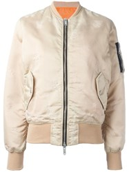 Unravel Project Classic Bomber Jacket Nude Neutrals
