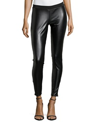 Romeo And Juliet Couture Faux Leather Front Leggings Black
