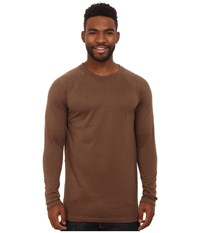 Terramar Tall Military Fleece Crew Military Brown Men's Long Sleeve Pullover