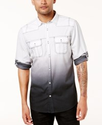 Inc International Concepts Men's Ombre Shirt Created For Macy's White Pure