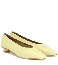Loq Paz Leather Pumps Yellow