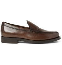 Tod's Leather Penny Loafers Dark Brown